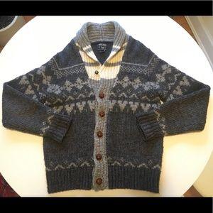 Woolrich Shawl Cardigan Sweater Grey